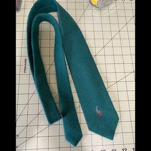 Polo Ralph Lauren designer green wool tie